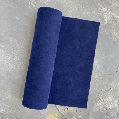 Замша искусственная двухсторонняя, темно-темно-синий (33)