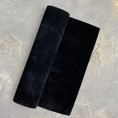 Замша искусственная двухсторонняя, черный