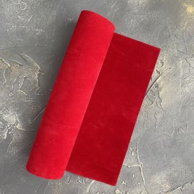 Замша искусственная двухсторонняя, красный (11)