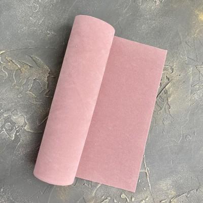 Замша искусственная двухсторонняя, дымчато-розовый
