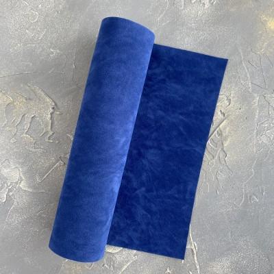 Замша искусственная двухсторонняя, темно-синий (4)