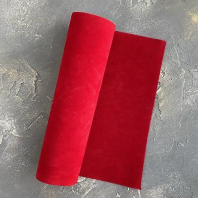 Замша искусственная двухсторонняя, красный (18)