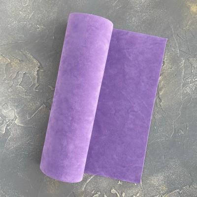 Замша искусственная двухсторонняя, фиолетовый