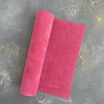 Замша искусственная двухсторонняя, розовая пенка